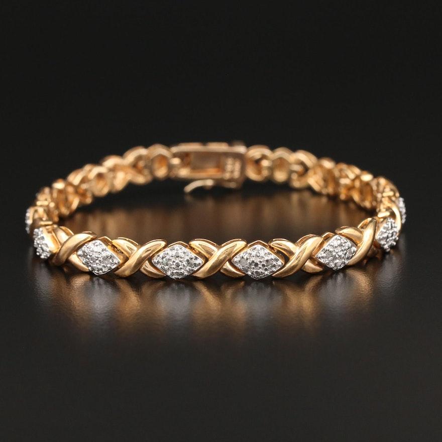 Sterling Silver Promotional Diamond Bracelet