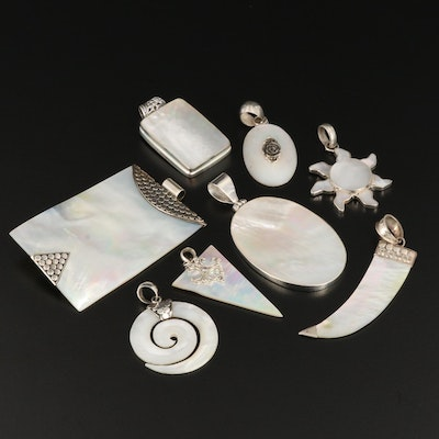 Sterling Silver Mother of Pearl Pendant Assortment