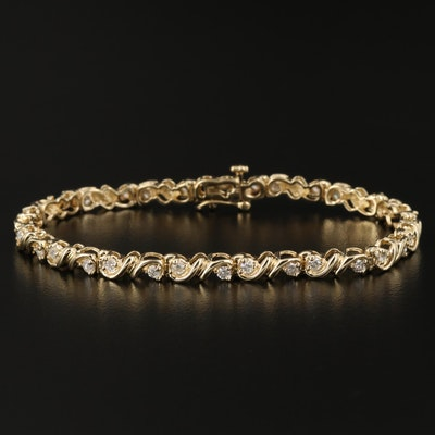 14K Gold 1.52 CTW Diamond Bracelet