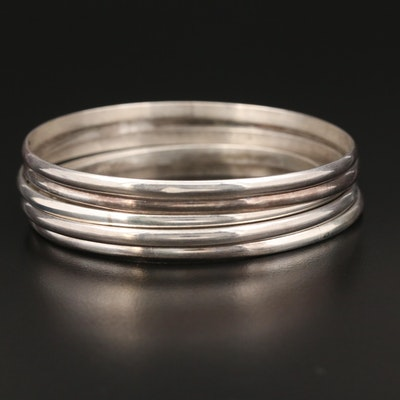 Sterling Silver Stackable Bracelets