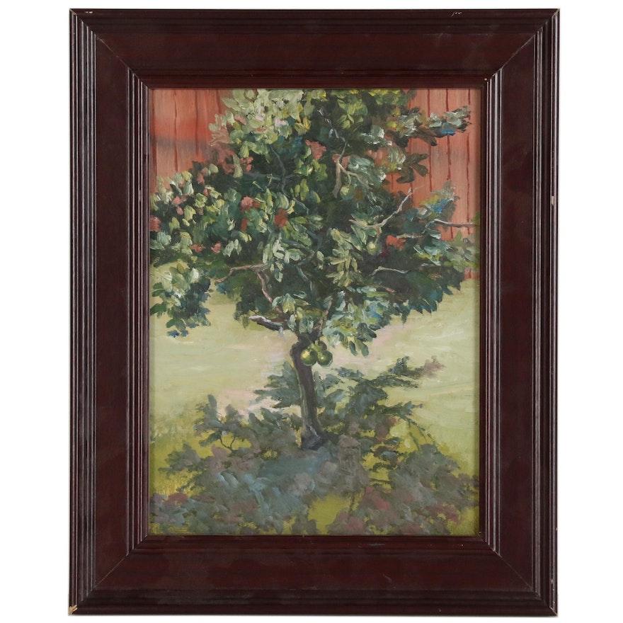 """Kaz Ooka Oil Painting """"Lime Tree"""""""