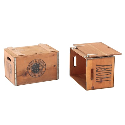 Proctor & Gamble Wooden Ivory Soap Crates, 20th Century