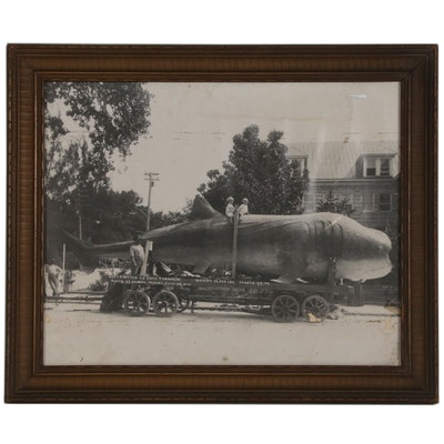 Halftone Print of Whale Shark Mobile Attraction, Early 20th Century