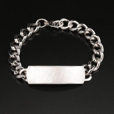 Sterling Silver ID Bracelet