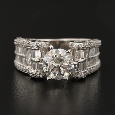 14K Gold 4.31 CTW Diamond Ring