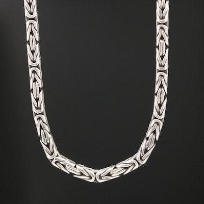 Sterling Byzantine Link Chain