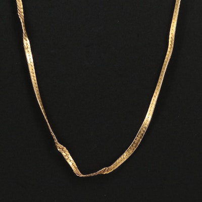 14K Yellow Gold Scrap Necklace