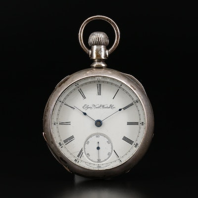 1891 Elgin Coin Silver Pocket Watch