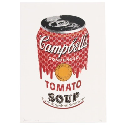"""Death NYC Pop-Art Style Graphic Print """"Soda Soup Red"""", 2017"""