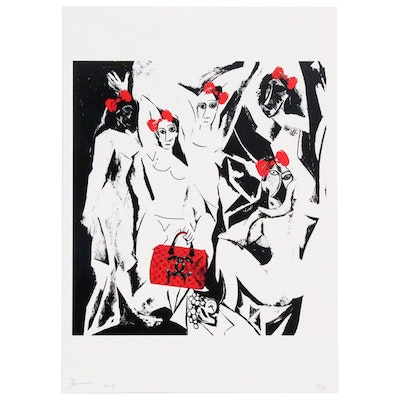 """Death NYC Graphic Print """"Picasso Les Red"""", 2017"""