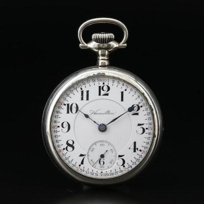 1911 Hamilton Railroad Grade Open Face Pocket Watch