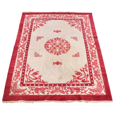 8'7 x 12'6 Hand-Knotted Chinese Inspired Wool Rug