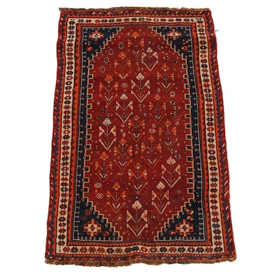 3'11 x 6'7 Hand-Knotted Persian Qashqai Wool Rug