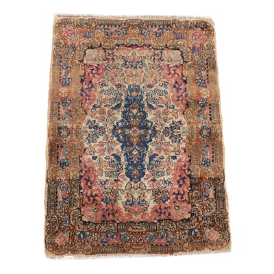 1'10 x 2'9 Hand-Knotted Persian Mehriban Wool Rug