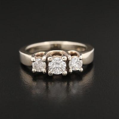 14K Yellow Gold 0.78 CTW Diamond Ring