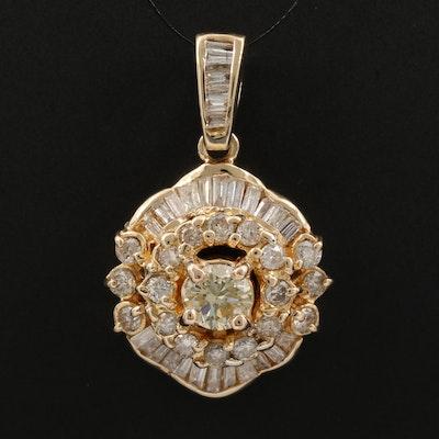 18K Gold 1.69 CTW Diamond Pendant