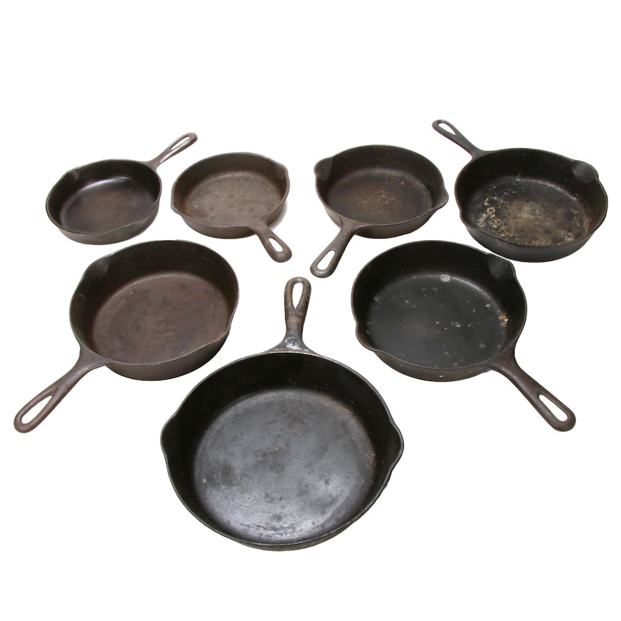 Griswold and Wagner Cast Iron Skillets