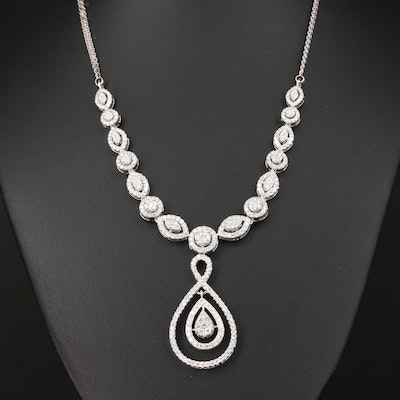 18K Gold 5.80 CTW Diamond Necklace
