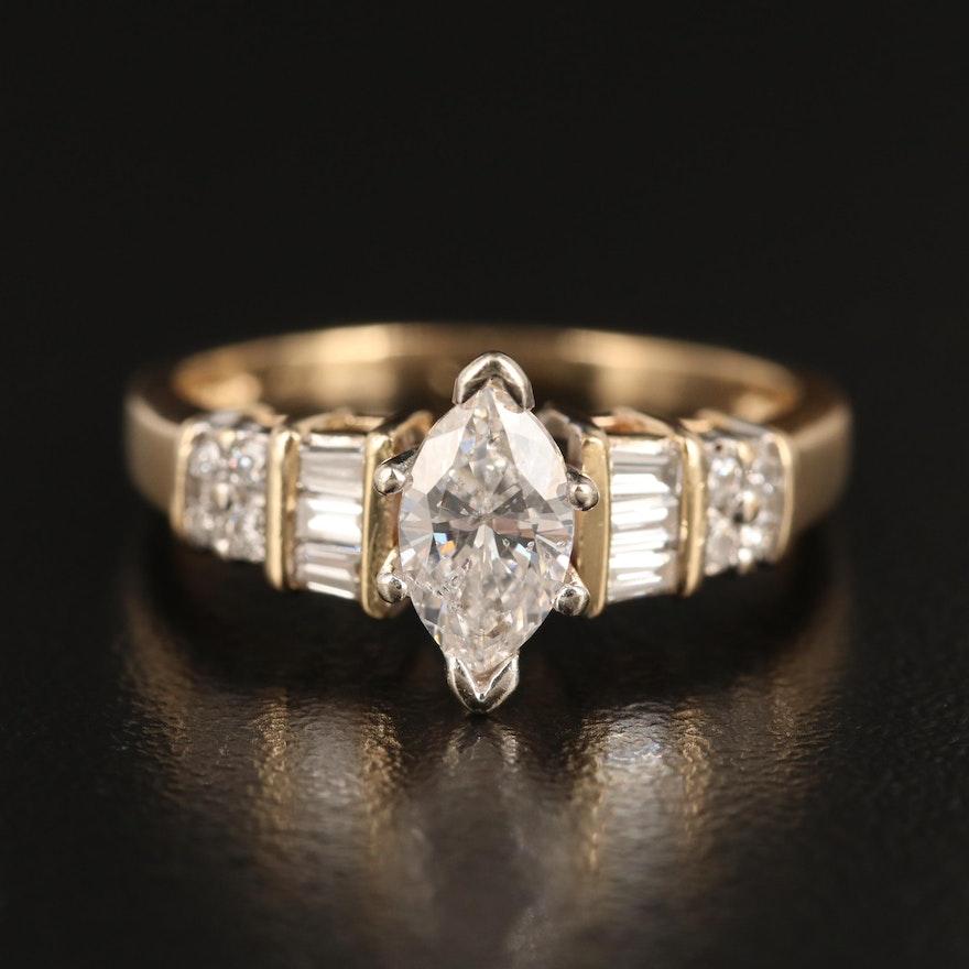 14K 1.25 CTW Diamond Ring