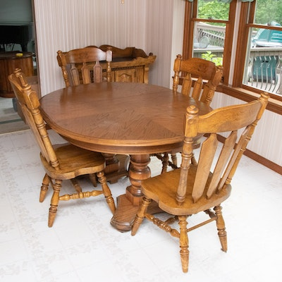 Colonial Style Oak Dining Set