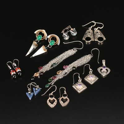 Sterling Silver Earrings Including Mess Dangle Earrings
