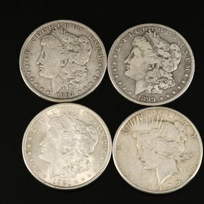 Collection of Morgan and Peace Silver Dollars