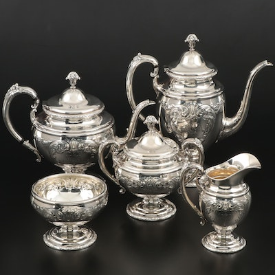 "Towle Sterling Silver ""Old Master"" Tea and Coffee Service, Mid to Late 20th C."