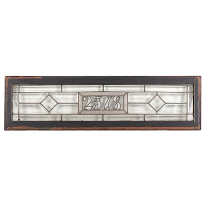 Beveled Glass Transom Window, Early 20th Century