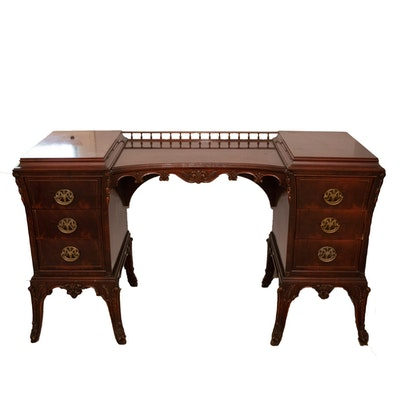 George III Style Mahogany Vanity Table