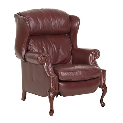 Drexel-Heritage Leather Wingback Recliner