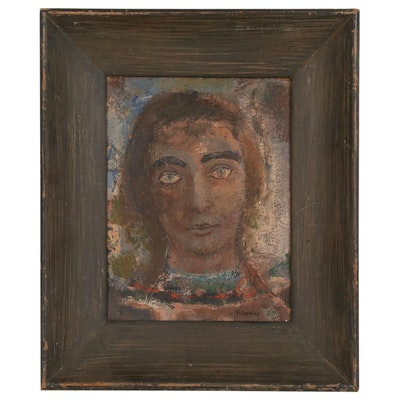 Bust Portrait of a Women Modern Oil Painting, 20th Century
