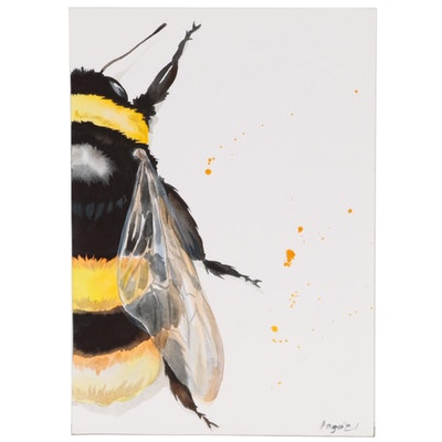 Ann Gorywine Watercolor Painting of Bee
