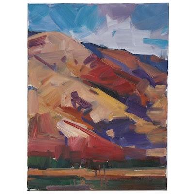 """Jose Trujillo Landscape Oil Painting """"Quiet Moment"""", 2020"""