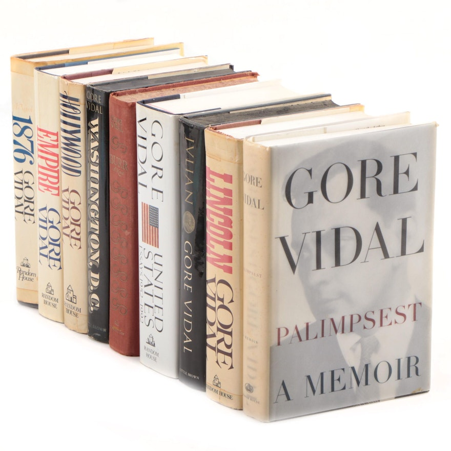 """Gore Vidal Book Collection Including First Edition """"United States: Essays"""""""