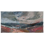 "Jose Trujillo Landscape Oil Painting ""Brewing Storm"", 2020"