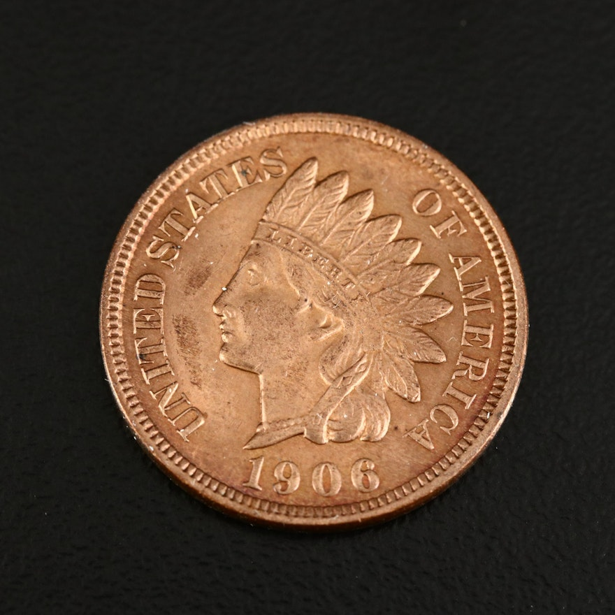 1906 Indian Head One Cent Coin