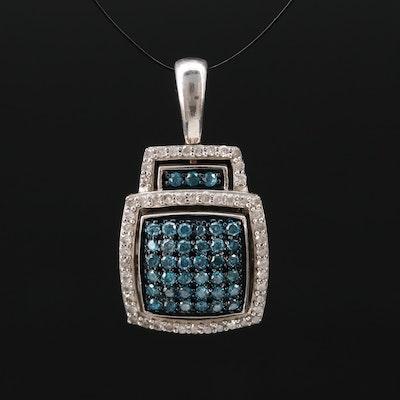 Sterling Silver 0.64 CTW Diamond Pendant