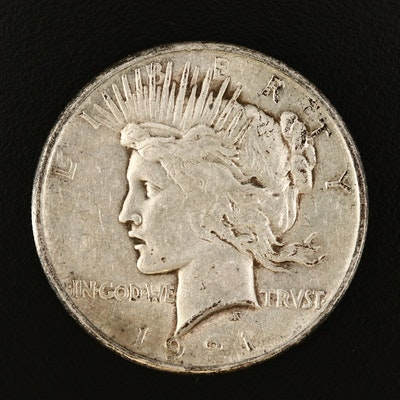 Key Date 1921 High Relief Peace Dollar.