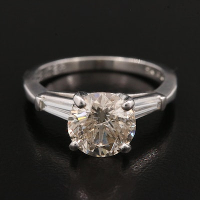 Platinum 2.46 CTW Diamond Ring