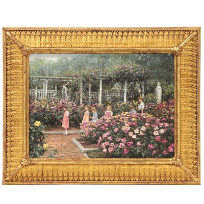 "Donny Finley Oil Painting ""Rosegarden"""
