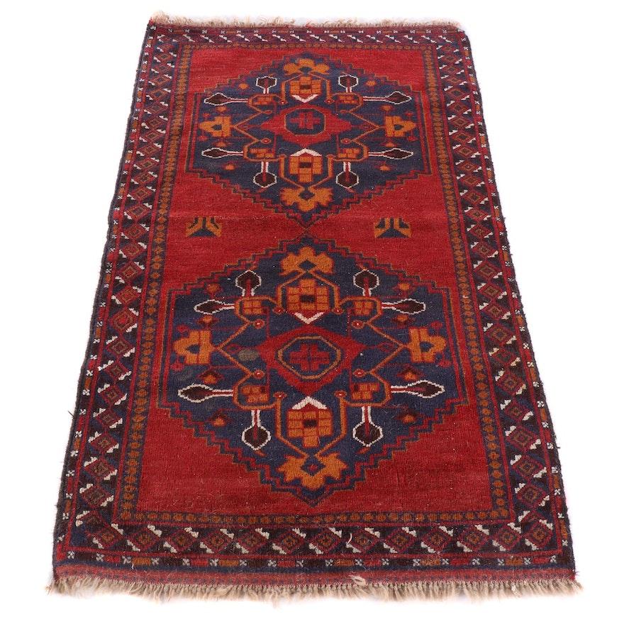 3'5 x 6'2 Hand-Knotted Persian Kelardasht Wool Rug