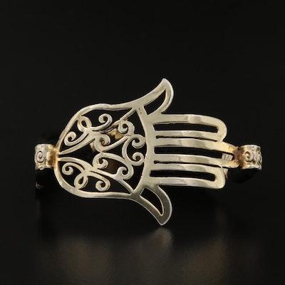 "Sterling Silver ""Hamsa"" Symbol Bracelet"