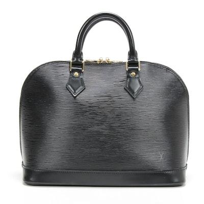 Louis Vuitton Alma PM Satchel in Black Epi Leather