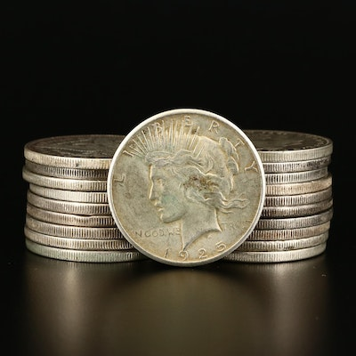 Morgan Silver Dollars Including Better Date 1890-O, 1891-S, 1891-O
