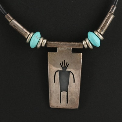 Western Martin and Denise Stecher Sterling Silver Howlite Necklace