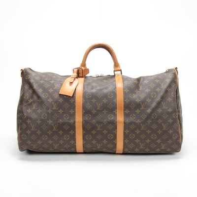 Louis Vuitton Keepall Bandoulière 60 Duffel in Monogram Canvas and Leather