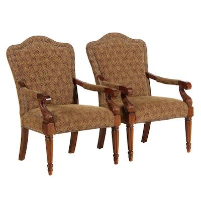Fairfield Louis XVI Style Armchairs, Late 20th Century