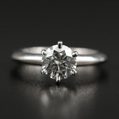 Tiffany & Co. Platinum 1.05 CT Diamond Ring