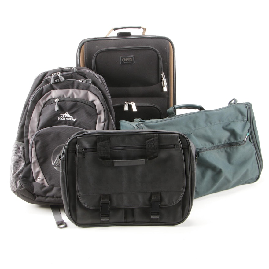 Chaps Carry-On Luggage with High Sierra Backpack, Samsonite and More