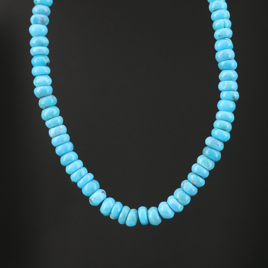 10K Turquoise Beaded Necklace